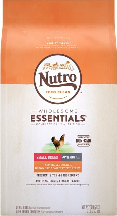 Nutro Wholesome Essentials Small Breed Senior Food Chicken