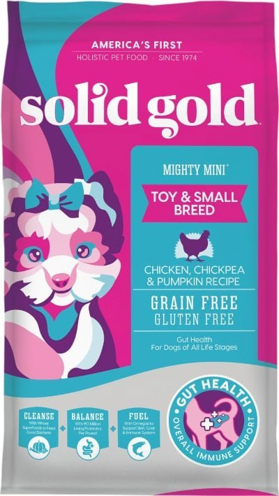 Solid Gold Mighty Mini Toy & Small Breed Gut Health Chicken