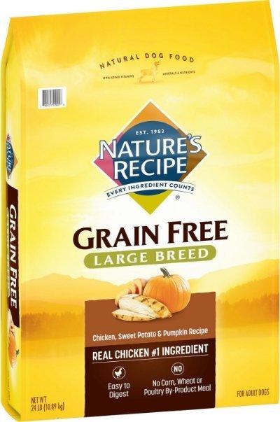 Nature's Recipe Large Breed Grain-Free Chicken