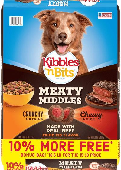 Kibbles 'n Bits Meaty Middles Prime Rib