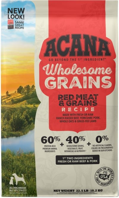 ACANA Wholesome Grains Red Meat Recipe Gluten-Free