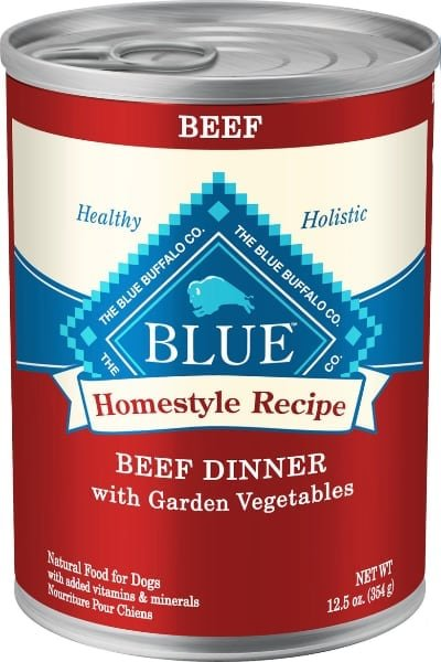Blue Buffalo Homestyle Recipe Beef Dinner with Garden Vegetables Sweet Potatoes Canned