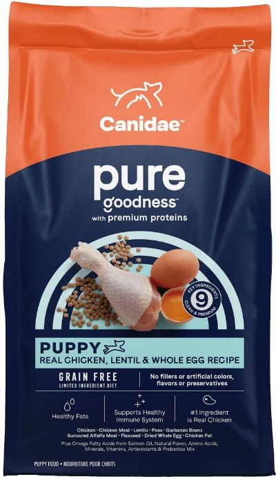 CANIDAE Grain-Free PURE Puppy Chicken, Lentil & Whole Egg