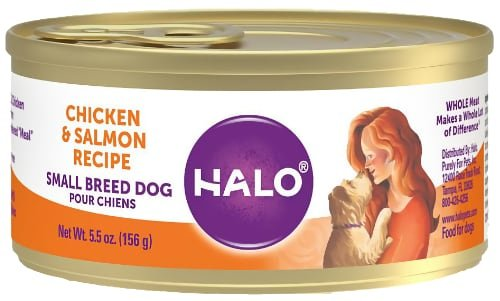 Halo Chicken Salmon Grain Free Small Breed Canned Food