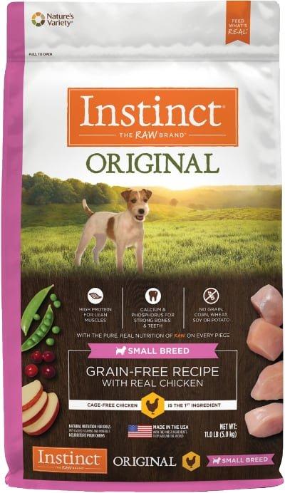 Instinct Original Small Breed Grain Free Recipe Real Chicken Freeze Dried Raw Coated