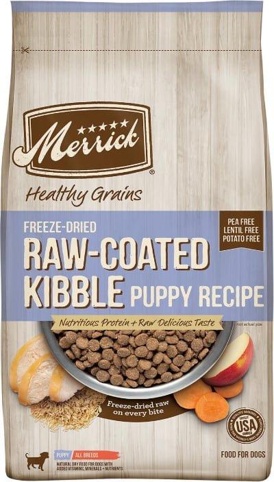 Merrick Healthy Grains Raw-Coated Kibble Puppy Recipe Freeze-Dried