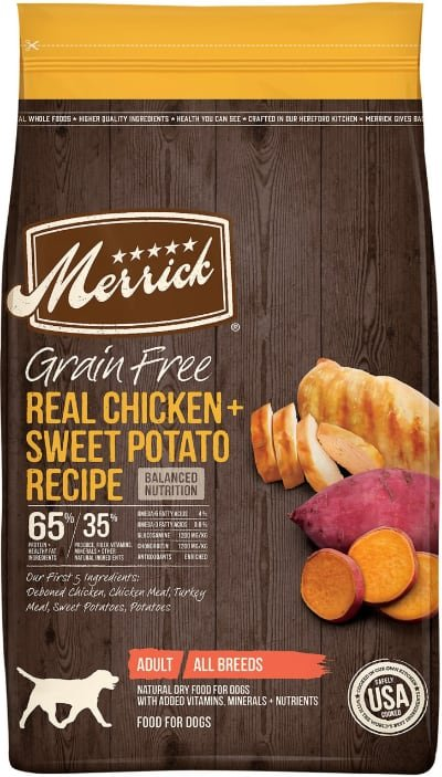 Merrick Real Chicken + Sweet Potato Recipe Grain-Free