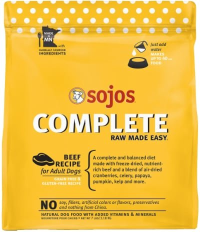 Sojos Complete Beef Grain-Free Freeze-Dried Dehydrated
