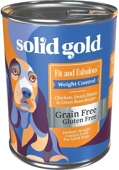 Solid Gold Fit & Fabulous Chicken, Sweet Potato & Green Bean Weight Control Recipe Grain-Free Canned