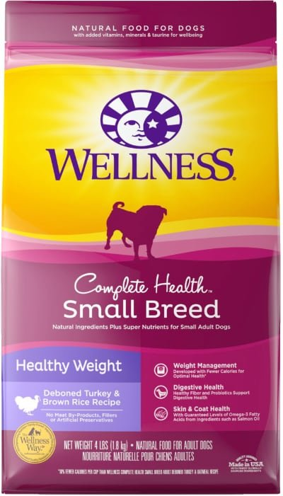 Wellness Small Breed Complete Health Adult Healthy Weight Turkey & Brown