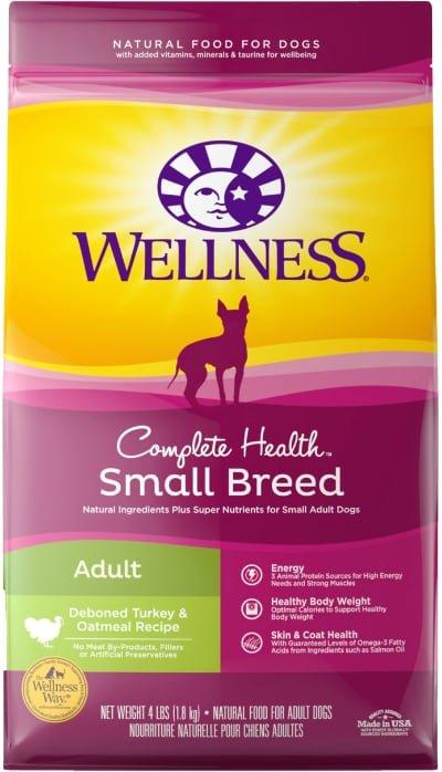 Wellness Small Breed Complete Health Adult Turkey Oatmeal
