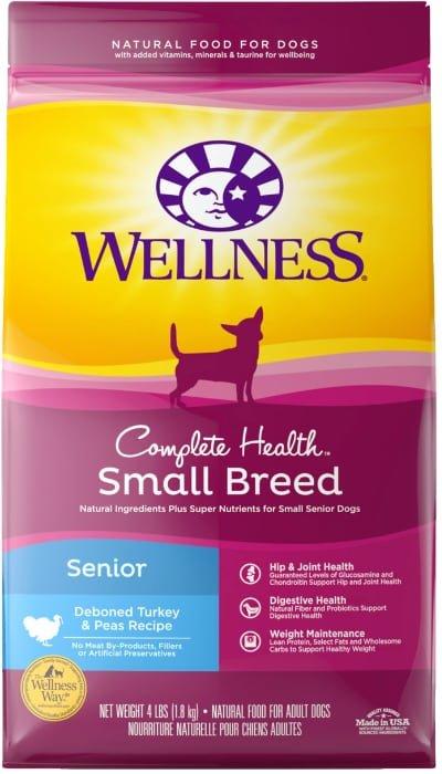 Wellness Small Breed Complete Health Senior Deboned Turkey Peas