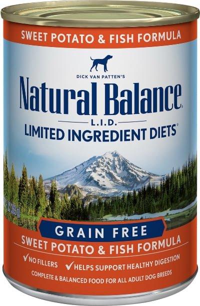 Natural Balance LID Potato & Fish Formula Grain-Free Canned