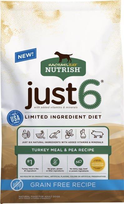 Rachael Ray Nutrish Just 6 Natural Grain-Free Turkey